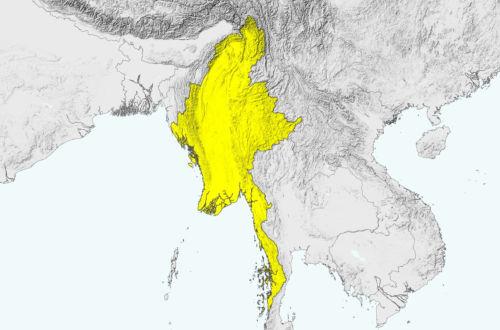Landkarte von Myanmar